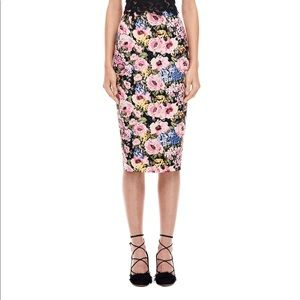 Rebecca Taylor Floral Pencil Skirt great condition